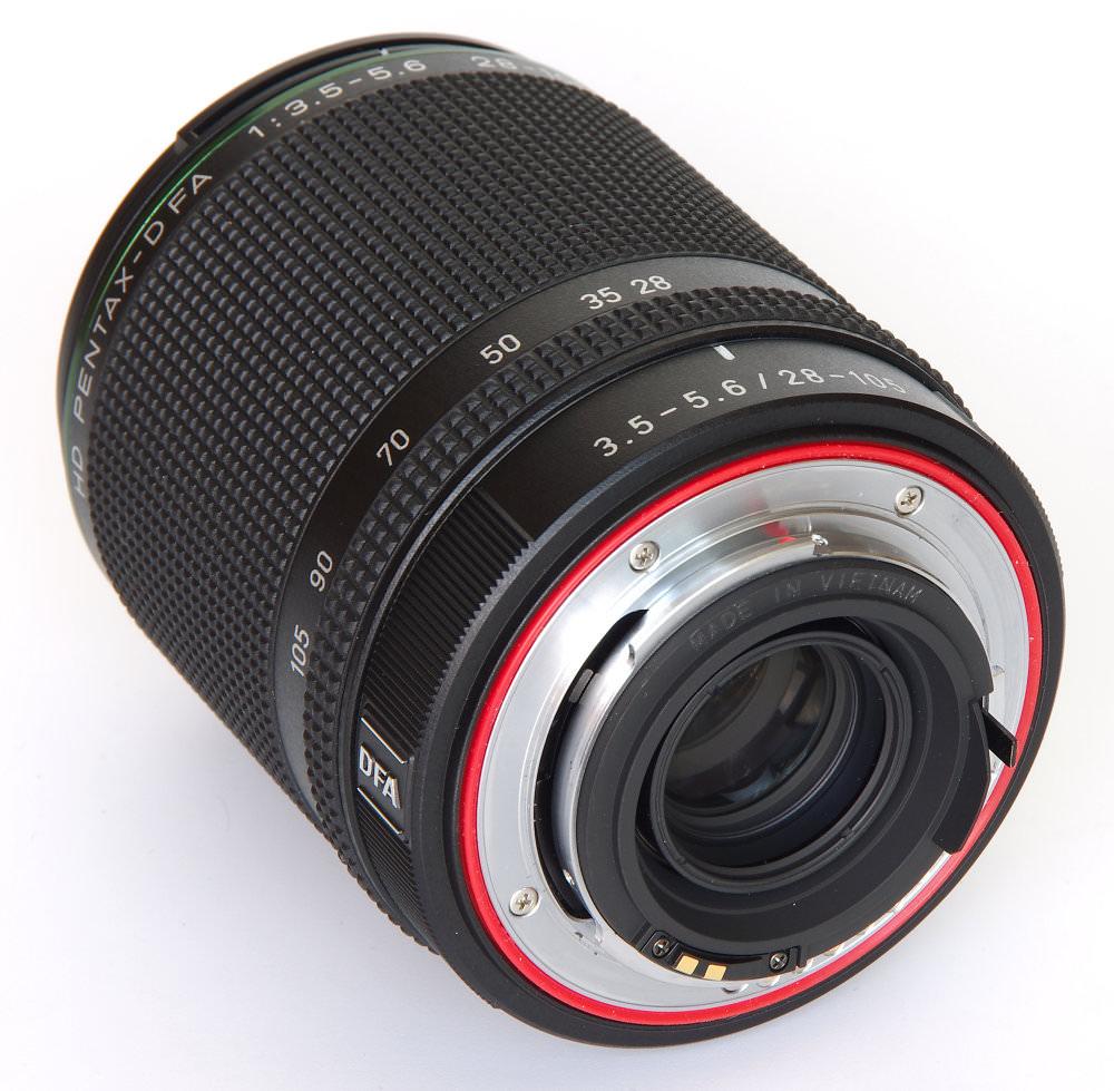 Pentax 28 105mm Rear Oblique View