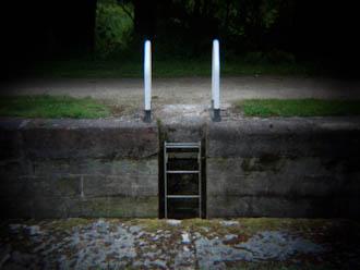 canal ladder taken using Holga HLW-OP lens