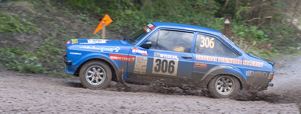 1 Shot at the 2014 Forest of Dean rally, a Mk. II Ford Escort shows that some older cars can be far more exciting to watch than modern, faster vehicles.