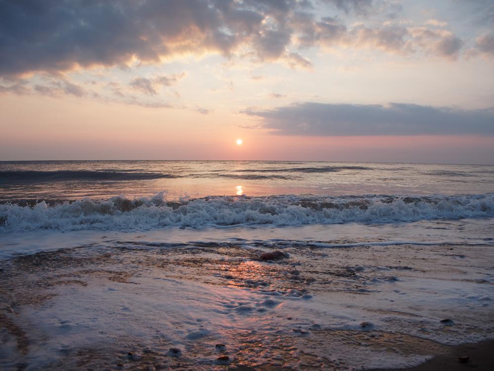 Sunrise at the coast