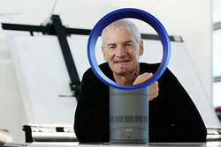 Sir James Dyson with his new fan
