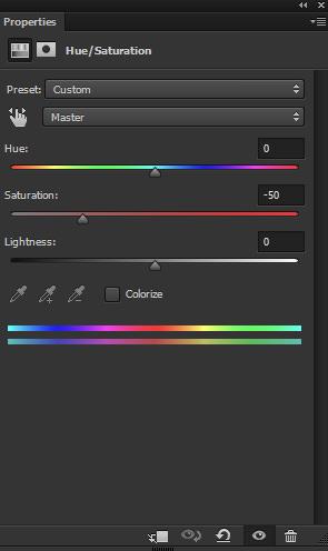 Hue/Saturation adjustment layer