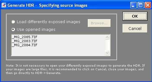Generate HDR