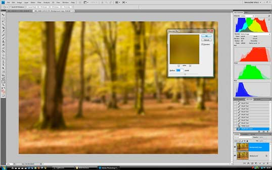 Add blur to your shot in Photoshop