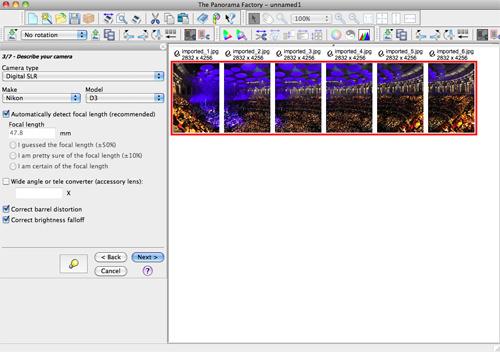 Creating Panoramas - step three