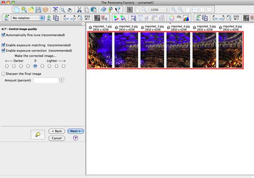 Creating Panoramas - step four