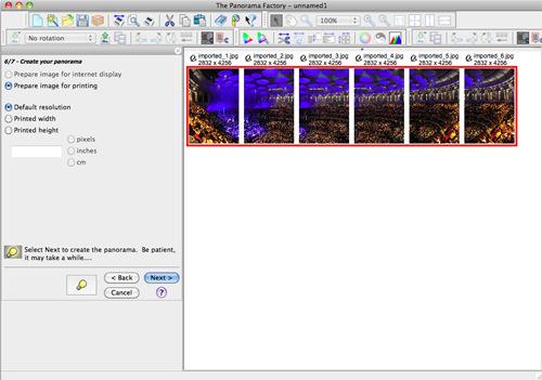 Creating Panoramas - step six