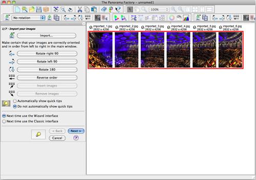 Creating Panoramas - step one