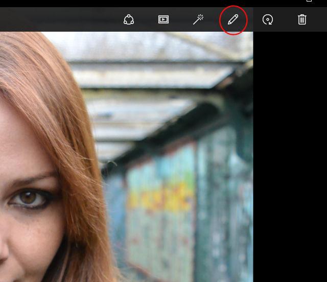 Windows Photos App Edit Options