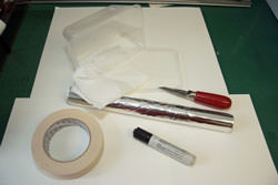 Items needed to create a home-made flash diffuser