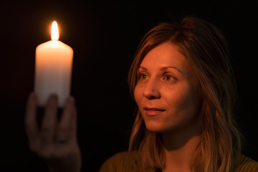 Candlelit portrait