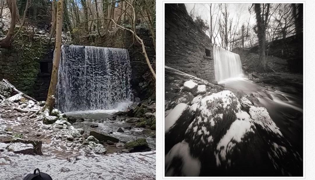 Waterfall photography with a pinhole camera