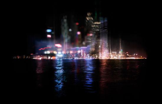 Urban lights at night
