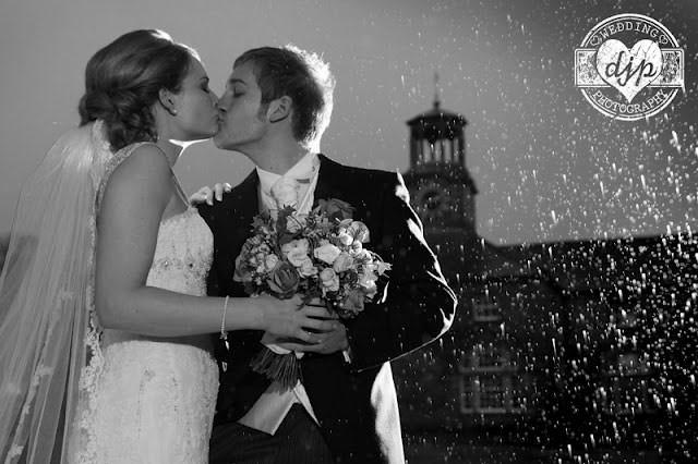 Wedding photography in rain