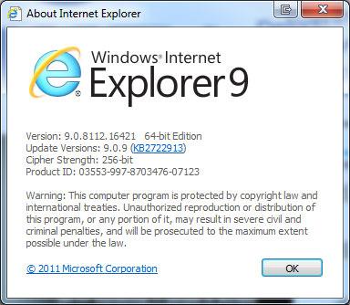 About Internet Explorer