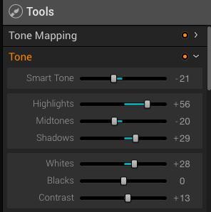 Tools in Aurora HDR