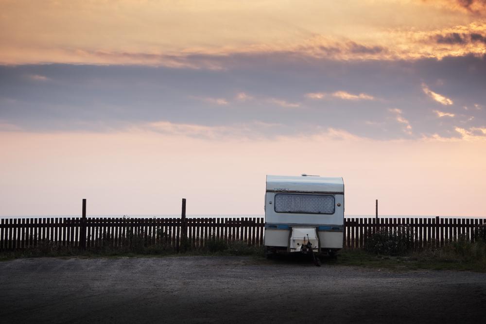 Caravan at the coast