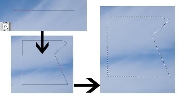 Polygonal Lasso Tool Selection