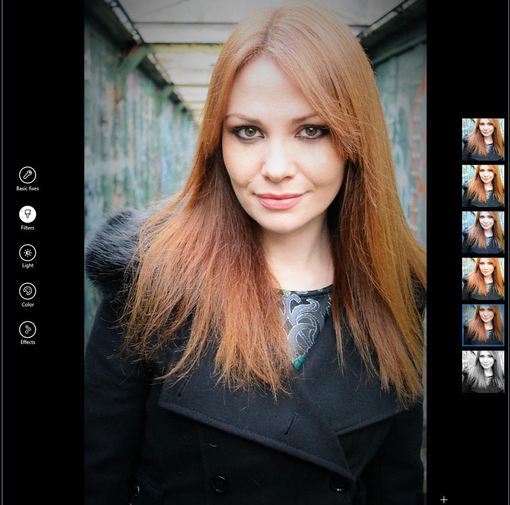 Filters in Photos app