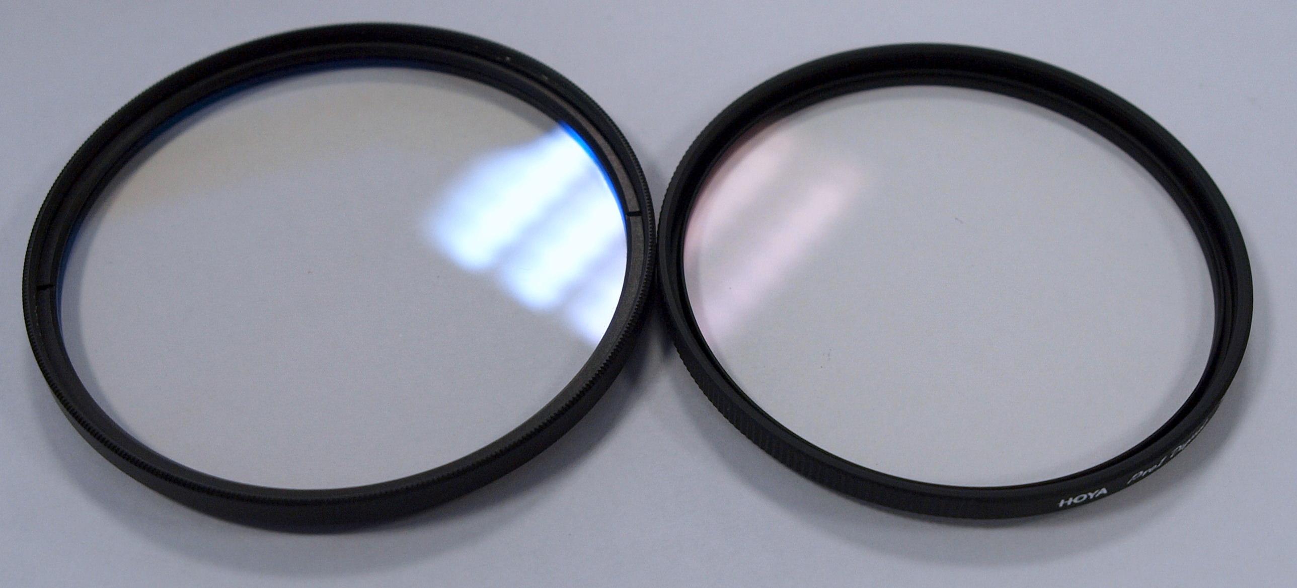 Hoya Pro1 Digital Fake Filters Found Uv Pro 1 Filter 58mm Left Real Right