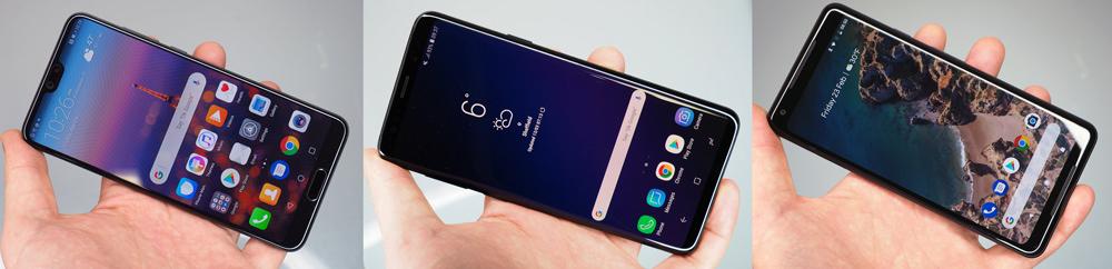 Huawei P20 Pro Vs Google Pixel 2 XL Vs Samsung S9 Plus