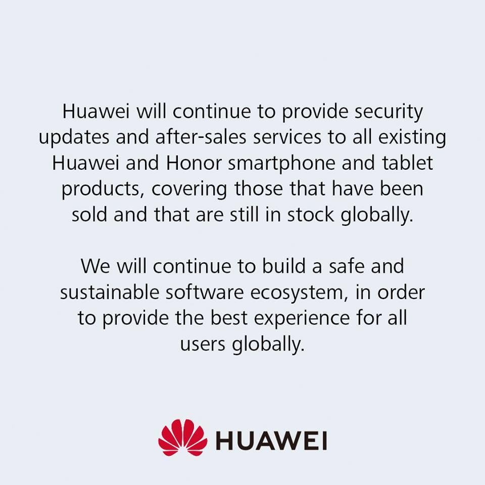 Huawei Respond to Google