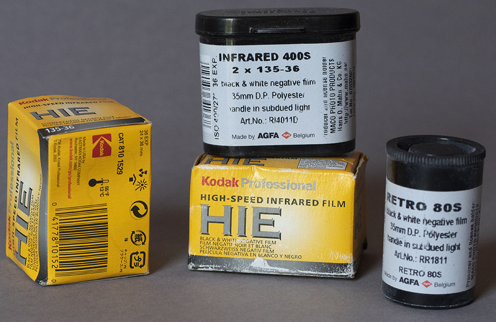 Various IR films, past and present.