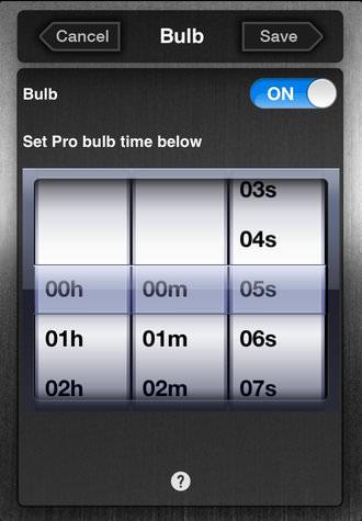 Ioshutter Screenshot Bulb Time Setting