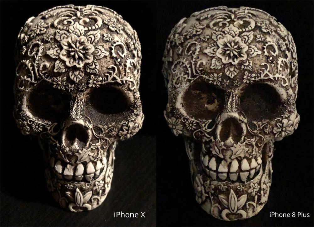 iPhone X vs iPhone 8 Plus in Low light