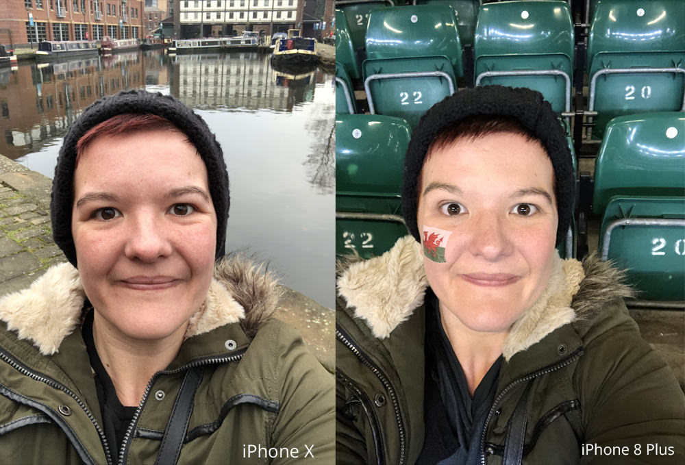 Selfie Comparison iPhone X vs iPhone 8 Plus