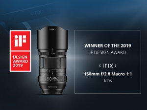 Irix 150mm F/2.8 Macro Lens Receives iF product Design Award