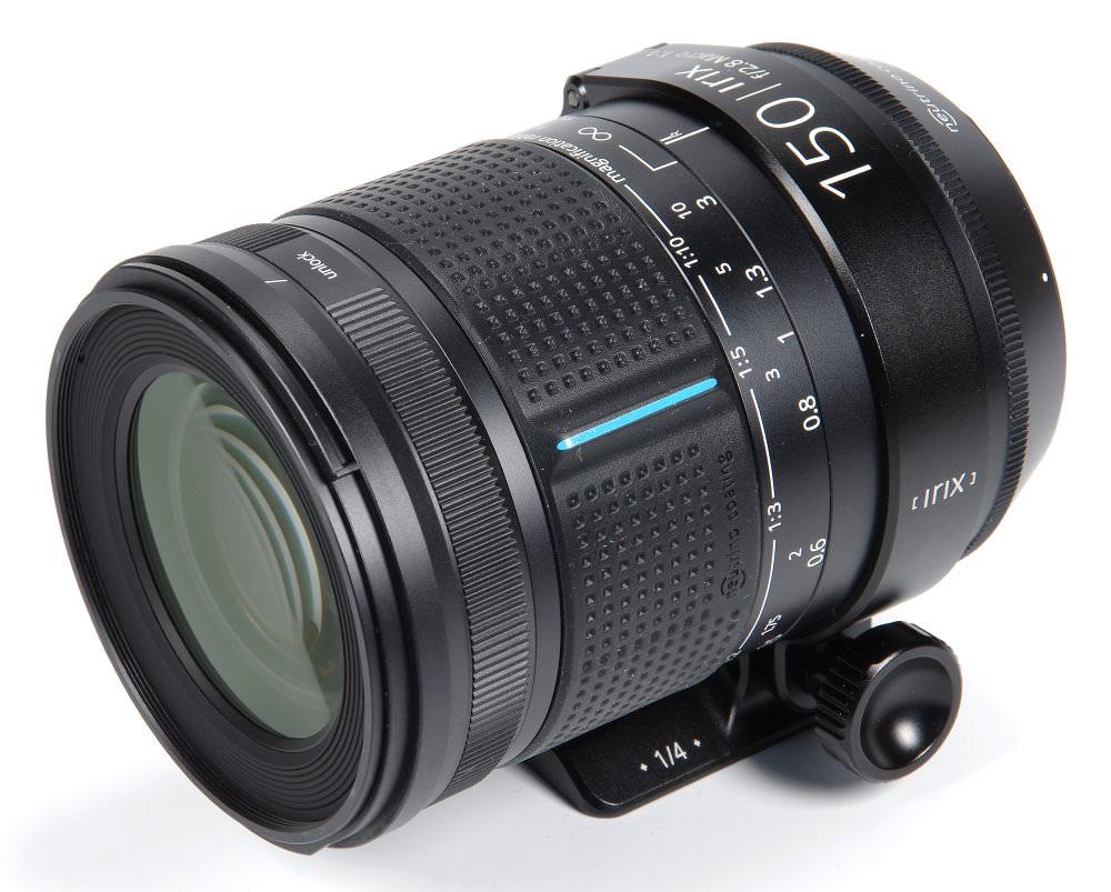 Irix 150mm F2,8 Macro Front Oblique View