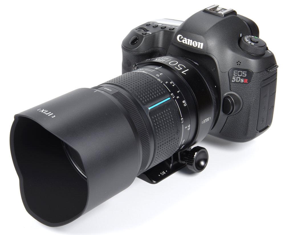 Irix 150mm F2,8 Macro With Hood On Canon 5DSR