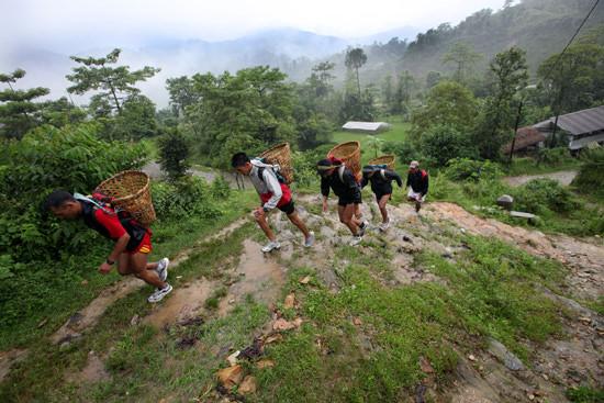 Gurkhas training in Nepal