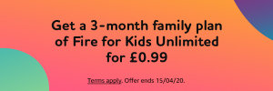 Keep The Kids Busy With 'Amazon Fire For Kids Unlimited' For Just 99p