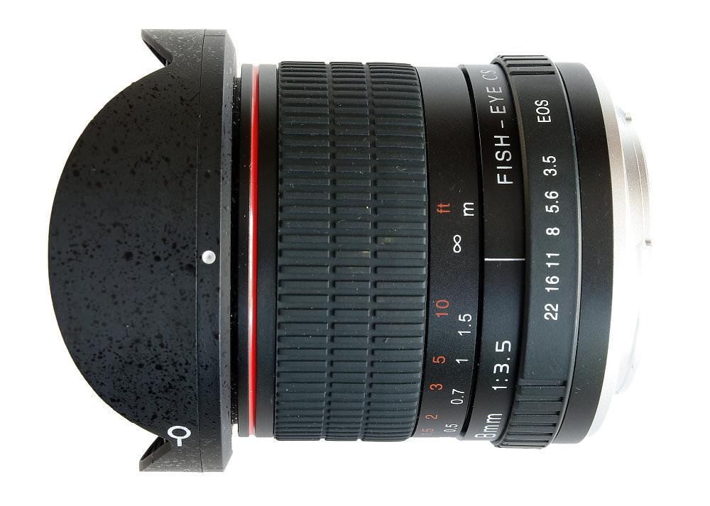 Kelda 8mm F3,5 Side View