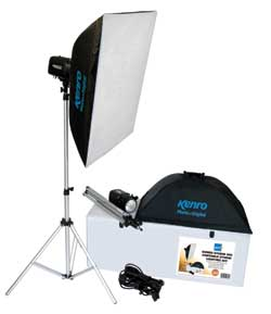 Kenro 300 watt portable studio flash kit