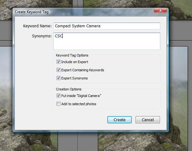 Create keyword Tag