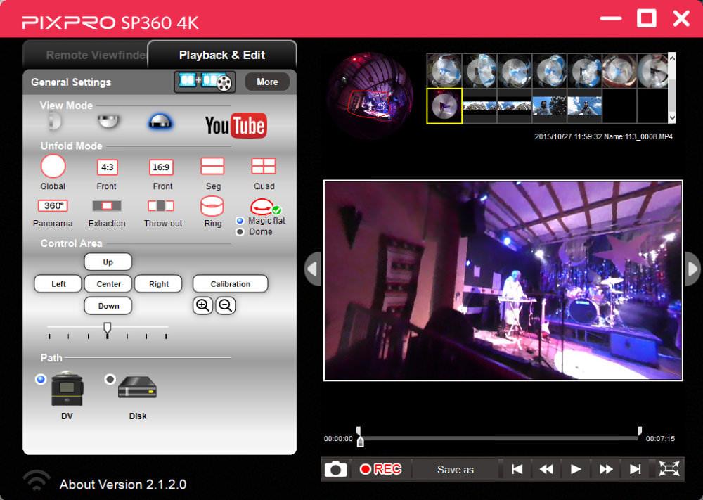 Kodak Pixpro Sp360 Menus