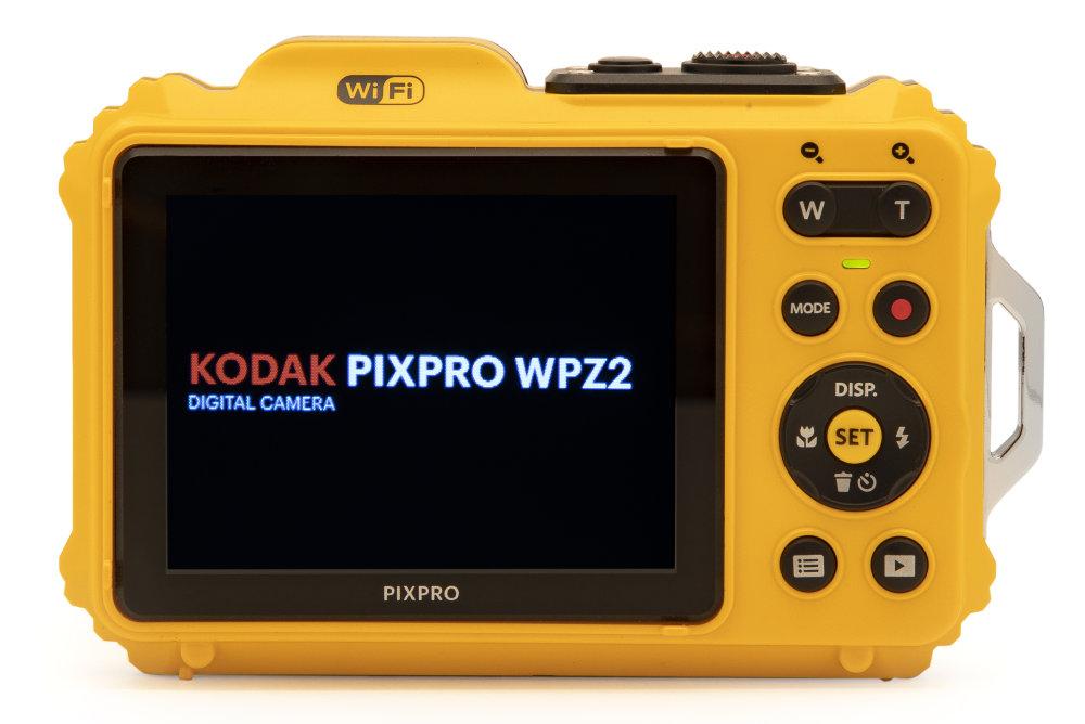 Kodak PIXPRO WPZ2 BackwithCameranameinLCD