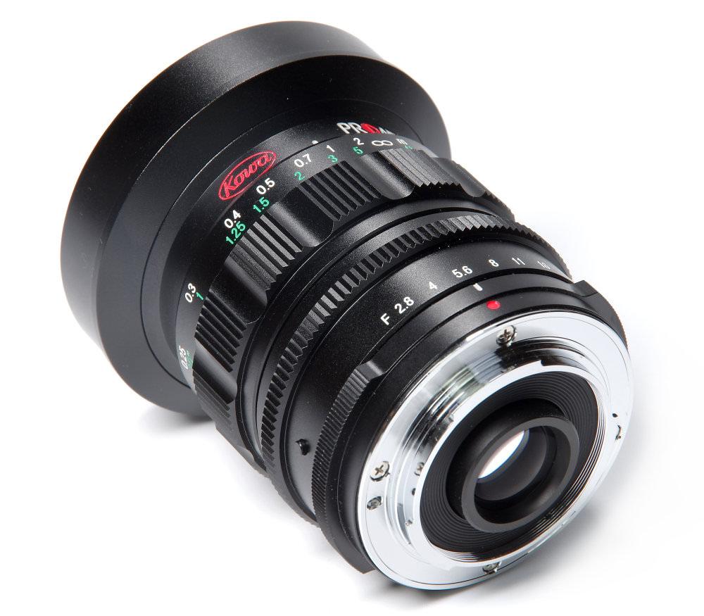 Kowa Prominar 8,5mm F2,8 Rear Oblique View
