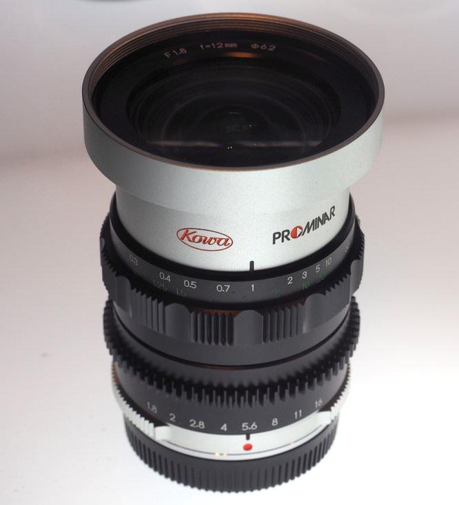 Kowa Prominar 12mm F1 8 Silver (2) (Custom)