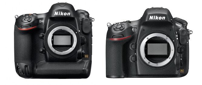 Nikon D4 and Nikon D800