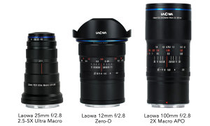 Laowa 12mm f/2.8 Zero-D, 25mm f/2.8 2.5-5X Ultra Macro and 100mm f/2.8 2X Available In Nikon Z & Canon RF Mount