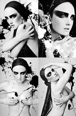 Models from Lush magazine shoot by Lara Jade