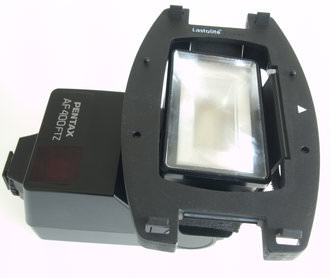 Lastolite Strobo Adaptor on bulky Pentax flash