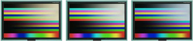 Monitors sample colours