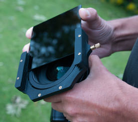 Lee Filter Big Stopper insert into holder