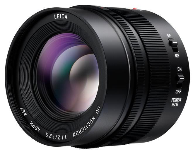 Panasonic Leica DG Nocticron H NS043 Front Slant
