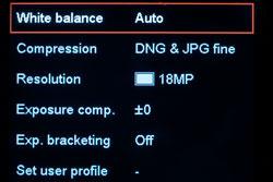 Leica M9 function menu